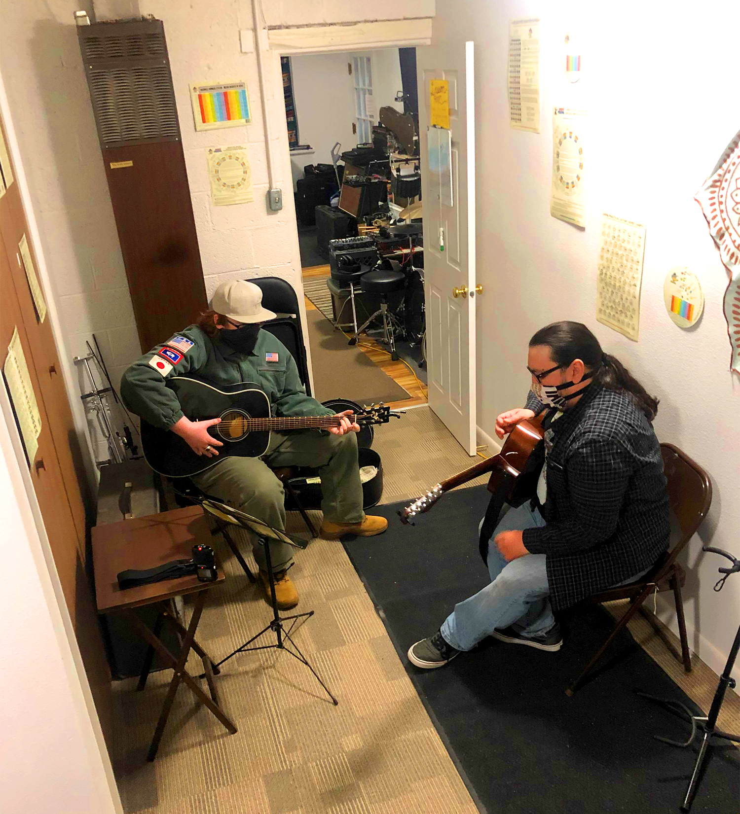 Fremont Music owner Sean Francis sits down with a student